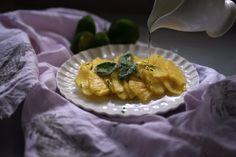Ananas con glassa al basilico