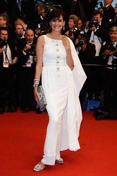 Ines de la Fressange at Cannes in FLATS!