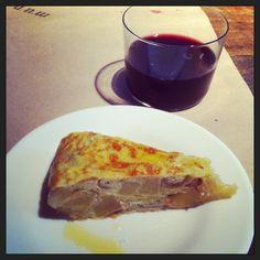 Spanish tortilla and sangria at Mundaka, a Spanish tapas restaurant in Carmel-by-the-Sea