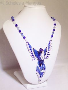 I just listed 3D Beaded Blue Jay Necklace on Swarovski Crystal Chain 1502 on The CraftStar $89.99 @TheCraftStar #uniquegifts
