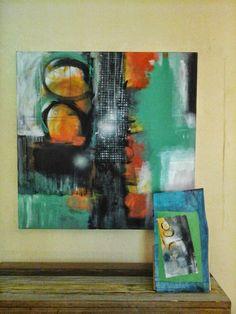 Acrilico y collage