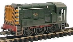 Graham Farish 371-022 Class 08 D3729 BR Green Wasp Stripes Weathered