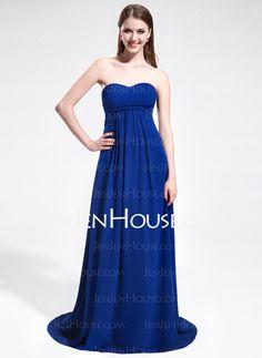 Bridesmaid+Dresses+-+$136.99+-+Empire+Sweetheart+Sweep+Train+Chiffon+Bridesmaid+Dress+With+Ruffle+(017025597)+http://jenjenhouse.com/Empire-Sweetheart-Sweep-Train-Chiffon-Bridesmaid-Dress-With-Ruffle-017025597-g25597