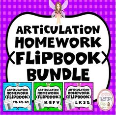 Articulation Homework Flipbook Bundle - 11 Sounds
