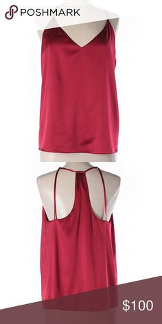Alice + Olivia silk strappy tank blouse Silk and sexy blouse!!  NEW WITH TAGS!     NEVER WORN!!             😍😍😍😍                 Last picture is simply for pricing reference. Alice + Olivia Tops Blouses