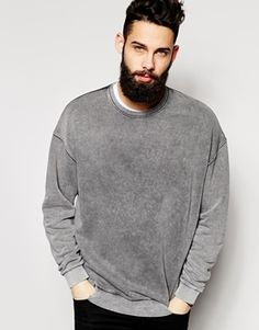 asos acid wash sweatshirt