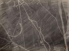 Unknown Photographer, Aerial reconnaissance photograph, Lavannes, World War I