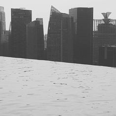 From the infinity pool at #marinabaysands