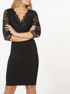 **Scarlett B Black Chloe Bodycon Dress