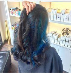 Juuuust a pop of blue!