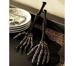 Skeleton Hand Serving Set #potterybarn