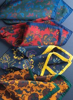 Silk Floral Pocket Squares