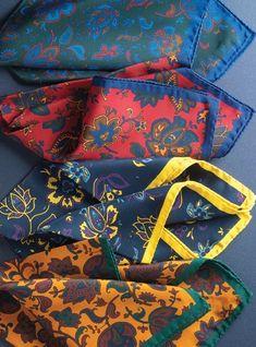 Silk Floral Pocket Squares