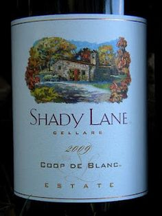 Shady Lane Coop de Blanc is a great Michigan wine that I really like..also the Coop de Rose'