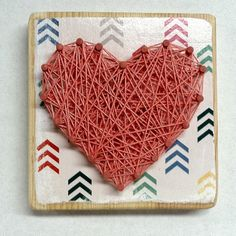 String Art Heart Mini string art by JOCoriginalcreations on Etsy String Art Heart, Mini, Unique Jewelry, Places, Handmade Gifts, Etsy, Kid Craft Gifts, Craft Gifts, Costume Jewelry