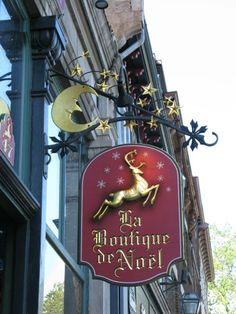 What a beautiful store sign. Pub Signs, Shop Signs, Metal Signage, Storefront Signs, Different Signs, Jingle All The Way, Decorative Signs, Christmas Store, Advertising Signs
