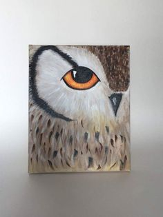 Beautiful acrylic painted owl on 8x10 canvas! Painted by Ariel:) #acrylic #owl #canvasart