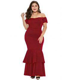 Red My Everything Plus Size Mermaid Dress Size Herbst Outfits rot Red Plus Size Dress Plus Size Fashion Dresses, Plus Size Maxi Dresses, Plus Size Outfits, Nice Dresses, Casual Dresses, Grad Dresses, Party Dresses, Red Mermaid Dress, Cheap Dresses Online