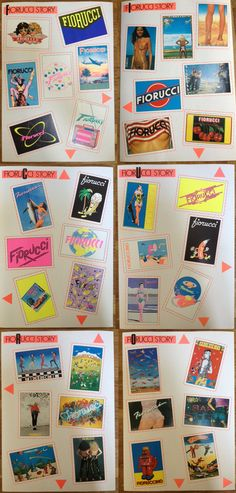 Fiorucci stickers 80s Design, Graphic Design Art, Lettering Design, Logo Design, Typo Poster, Ad Art, Book Layout, Vintage Travel Posters, Illustrations And Posters
