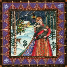 Yule/Winter Solstice : Cards by Occasion / Recipient : Home : Pagan/spiritual and fairy/fantasy greeting cards, prints and gifts at Moondragon Pagan Yule, Wiccan, Magick, Christmas Art, Christmas Greetings, Magical Christmas, Yule Celebration, Gothic Themes, Pagan Festivals