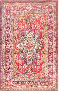Antique Silk Kerman Persian Rug 47150 Main Image - By Nazmiyal  http://nazmiyalantiquerugs.com/antique-rugs/persian-rugs/antique-silk-kerman-persian-rug-47150/