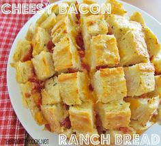 The Country Cook: Cheesy Bacon Ranch Bread--Keegan will love!!!