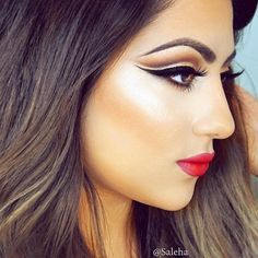 Cut crease perfection by @saleha using our Semi-Sweet Chocolate Bar Palette. #regram #chocolatebarpalette #toofaced