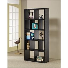 Jodee Modern Bookcase in Black by Enitial Lab