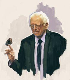 Birdie Sanders Painting: Print Available: https://society6.com/product/birdie-sanders_print | Bernie Sanders