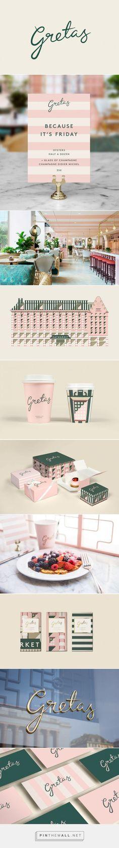 Gretas Cafe Branding by Café Branding, Restaurant Branding, Business Branding, Restaurant Design, Business Card Design, Web Design, Cafe Design, Retro Design, Packaging Design Inspiration