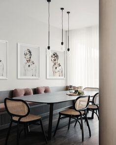 Home Interior Scandinavian .Home Interior Scandinavian Dining Nook, Dining Room Lighting, Dining Room Design, Dining Chair, Table Lighting, Built In Dining Room Seating, Dining Decor, Kitchen Lighting, Interior Design Awards 2018