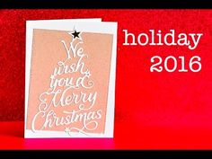 2016 Holiday Collection - Memory Box and Poppystamps - YouTube