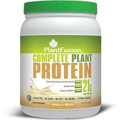 PlantFusion Complete Plant Based Protein Powder, Vanilla Bean, 21g Protein, 15 Servings, 1lb Tub