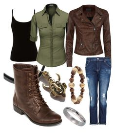 """""""Dean Winchester (Supernatural)"""" by fashion4fans ❤ liked on Polyvore featuring Lipsy, Doublju, Monet, A.N.A, MANGO, women's clothing, women, female, woman and misses"""
