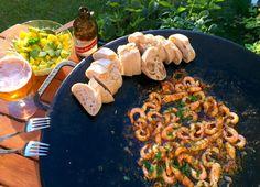 Stekman's sticky hot shrimps - Stekman. Munnar, Prosecco, Paella, Shrimp, Chili, Sausage, Grilling, Bbq, Mango