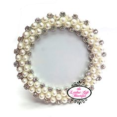 Pearl and Crystal picture frame gift