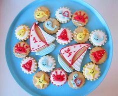 Postreadicción galletas decoradas, cupcakes y pops: Galletas decoradas: marítimas