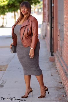 "trendycurvy: ""Down to Earth Outfit details on www.TrendyCurvy.com Photographer: Steve Suavemente """