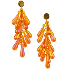 Burning tears lucite earrings ($119) ❤ liked on Polyvore featuring jewelry, earrings, beads jewellery, lucite jewelry, orange jewelry, acrylic jewelry and beading jewelry