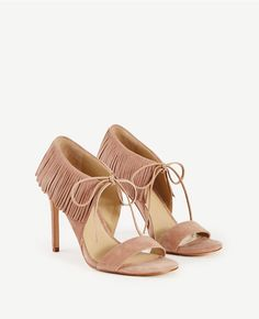 Thumbnail Image of Color Swatch 9893 Image of Toni Suede Fringe Sandals