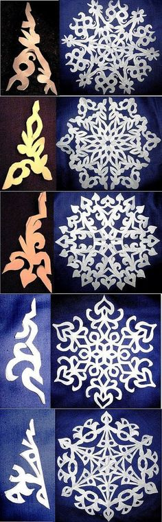 New diy paper design snowflake template ideas Holiday Crafts, Fun Crafts, Diy And Crafts, Christmas Crafts, Crafts For Kids, Arts And Crafts, Christmas Decorations, Christmas Ornaments, Christmas Snowflakes