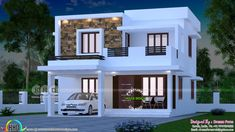 12 Some of the Coolest Concepts of How to Upgrade 4 Bedroom Modern House Plans Double Storey House, 2 Storey House Design, Bungalow House Design, House Front Design, Small House Design, Modern House Design, Small Modern House Plans, Indian House Plans, Model House Plan