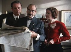 A most beloved red bow cardigan - Poirot, Miss Lemon