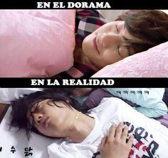 Cómo duerme Kim Hyun Joong en doramas vs Realidad!