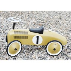 Magni - Gåbil i Messingfarvet, Classic racer/Ride on vehicle Classic racer in Bright Brass color Magni - ImageToys