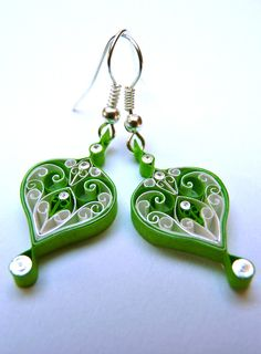 Earrings - Eco-friendly, Paper, quilled, Spring colours £9.99