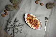 Feines Rezept für Reispudding mit Spekulatiuscrumbles. Rice pudding, christmas dessert. Dessert, christmas dessert, Reispudding Rezept