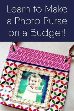 You can make a cute DIY photo purse with a bag you already have in your closet! Use this image transfer tutorial to get the look – it