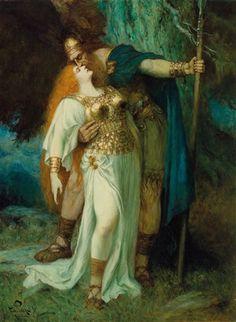 Ferdinand Leeke (German, 1859–1923) Title: Wotans Abschied von Brunhilde