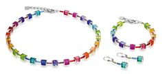 Geo Cube polaris rainbow multicolour set 3986_1500 – coeur de lion jewellery